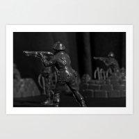 battlefield Art Prints featuring Battlefield by Naonik