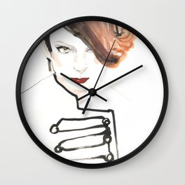 Readhead woman Wall Clock