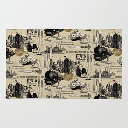 Murder on the Orient Express (Agatha Christie) Toile de Jouy Rug