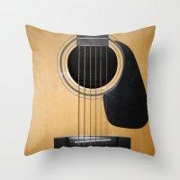 guitar Throw Pillows featuring Guitar by Nicklas Gustafsson