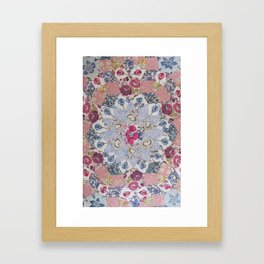 Hand-Sewing Liberty fabrics Framed Art Print