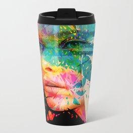 Paintflowers Metal Travel Mug