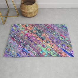 Spectral Glass Beads Rug