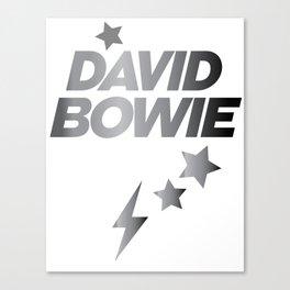 Glam Rock Bowie grey Canvas Print