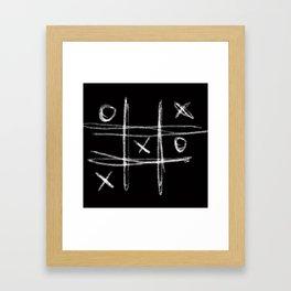 Tic-tac-toe Morpion Framed Art Print