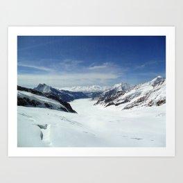 Switzerland: Jungfrau Ice and Mountains Art Print