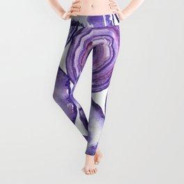 Purple agate pattern Leggings