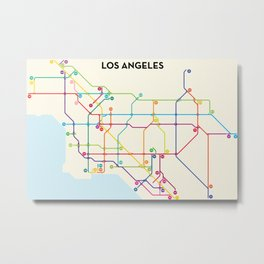 Los Angeles Freeway System Metal Print