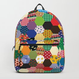 Hexagonal Patchwork Backpack