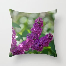 Lilac scent in the spring Throw Pillow