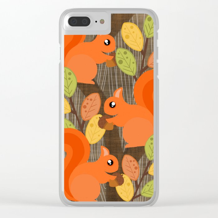 Three Squirrels In A Tree Clear iPhone Case