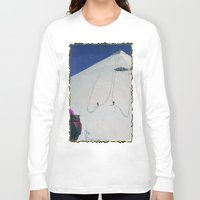 hiking Long Sleeve T-shirts featuring Hiking by Richard McGee