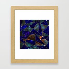 Stars Connections Framed Art Print