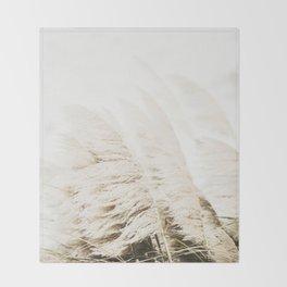 Pampas Grass Throw Blanket