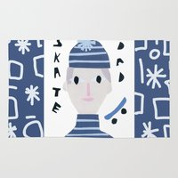 dad Area & Throw Rugs featuring Skate Dad by Susse Collection