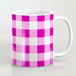 Magenta and White Check Coffee Mug