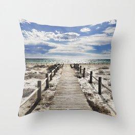 """""""To the beach..."""" Cabo de Gata Throw Pillow"""