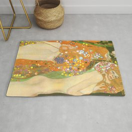 "Gustav Klimt ""Water Serpents"" Rug"