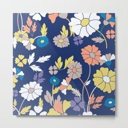 Flower Print Metal Print