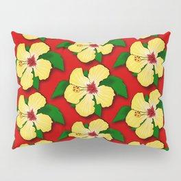 Yellow Hibiscus Pillow Sham