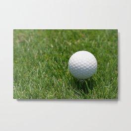 Golf Ball Metal Print