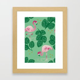 Flamingo Friends Framed Art Print