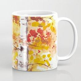 Fall Birch Trees Coffee Mug