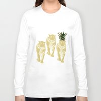 tigers Long Sleeve T-shirts featuring tigers by vica