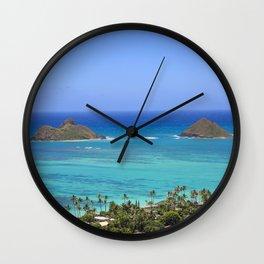 Ocean View Form The Mountain Hawaii Wall Clock
