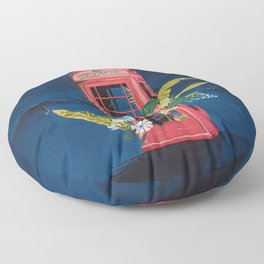 Night Phone Booth Floor Pillow