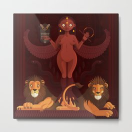 Ishtar | Animal Gods Metal Print