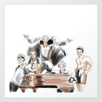 haikyuu Art Prints featuring Haikyuu!! Squad by Pruoviare
