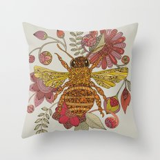 Bee awesome Throw Pillow