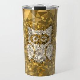 POLYNOID Owl / Gold Edition Travel Mug