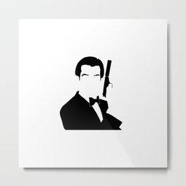 007 Brosnan Metal Print