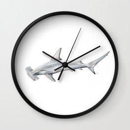 Hammerhead shark for shark lovers, divers and fishermen Wall Clock