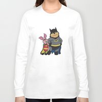 pooh Long Sleeve T-shirts featuring Bat Pooh by thedoormouse