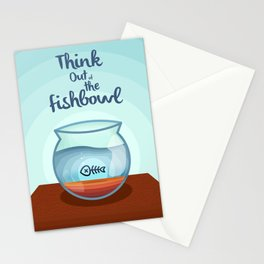 Think Out of the Fishbowl Stationery Cards