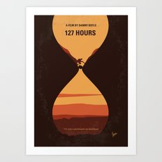 No719 My 127 Hours minimal movie poster Art Print