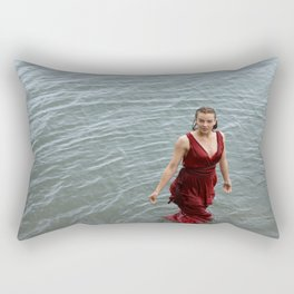 swimming girl Rectangular Pillow