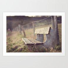 Sit Down a While Art Print