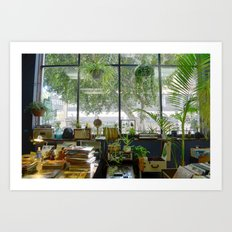 Records and Plants Art Print