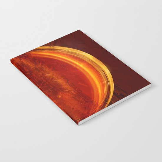 meditation orange Notebook