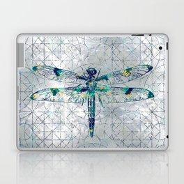 Gemstone Dragonfly on sacred geometry pattern Laptop & iPad Skin