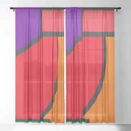 cubism tribute - pop art Sheer Curtain