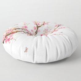 Pink Cherry Blossom Dream Floor Pillow