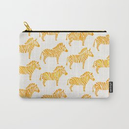 Zebras – Yellow Palette Carry-All Pouch
