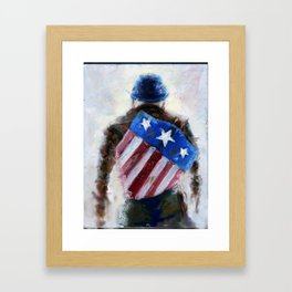 Captain Murica Framed Art Print