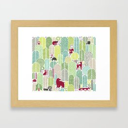 Welcome to the forest! Framed Art Print