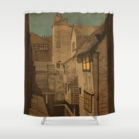 agnes Shower Curtains featuring Dusk by Megs stuff...
